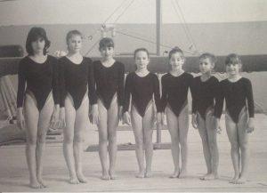 Il gruppo agonistico a metà degli anni '80. Da sinistra: Alessandra Navacchia, Michela Alessandrini, Danila Auteri, Federica Amaducci, Francesca Savoia, Francesca Turchi, Federica Guidazzi.