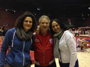 Niku con l'allenatrice prof.sa Marina Meldoli e la consigliera Barbara Valdifiori